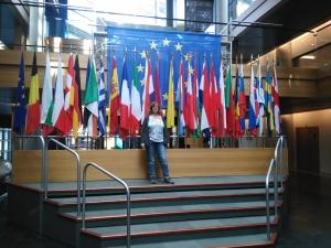 Die Flaggen der EU-Länder. Und ich.